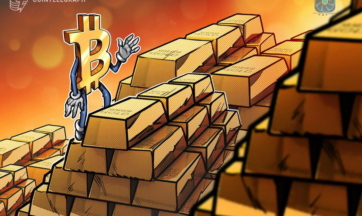 One Bitcoin now buys 0.6 kilograms of gold
